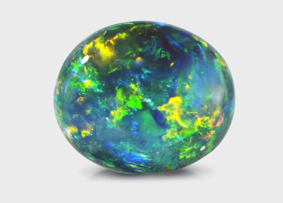 black opal gemstone