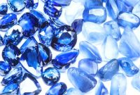 group of blue sapphire gemstones