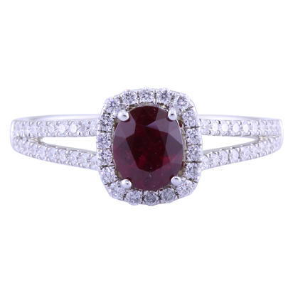 14K White Gold Ruby/Diamond Ring | RCC176R11WI